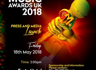 Change of venue: Ghana Music Awards UK still launches in Ghana on 18th May 2018 at Erata Hotel
