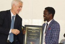 Dan Kwaku Yeboah honored by AIBF