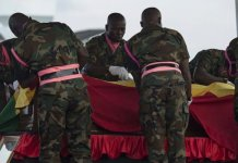 Kofi Annan's displayed casket empty?
