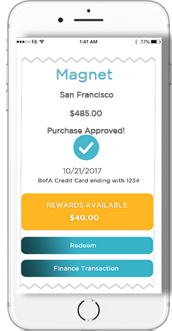 Preview of myGini mobile banking app