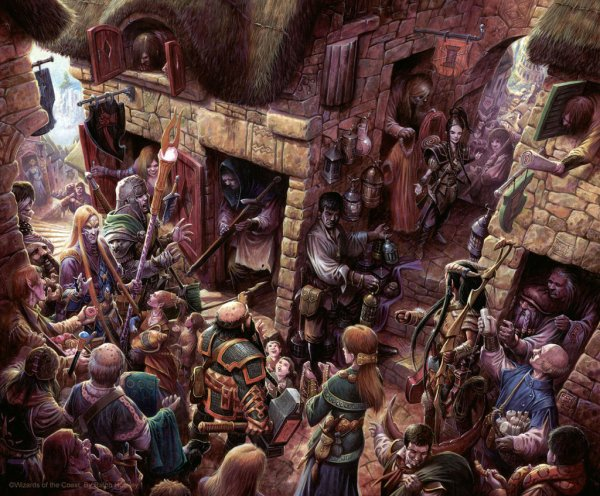Dungeons and Dragons Village Art