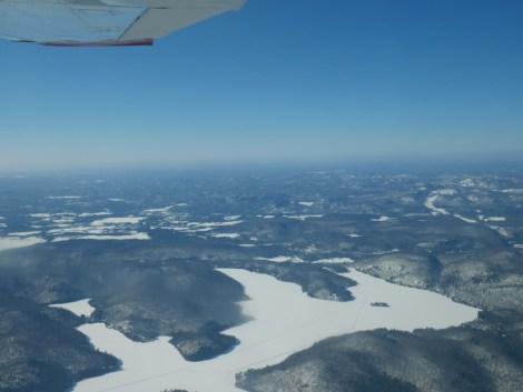 Vol en avion du Mont Tremblant