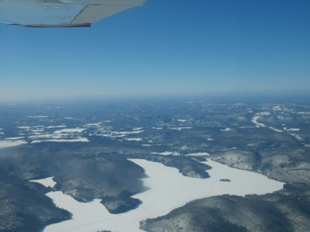 Vol en avion du Mont Tremblant