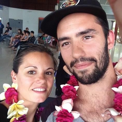 Aurélie et Francis, à leur arrivée à Nouméa