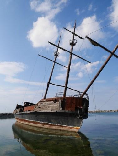 Joli navire échoué