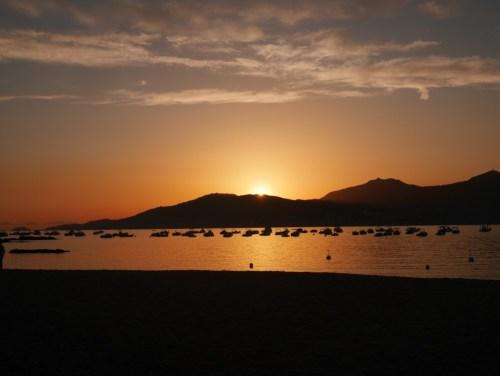 Coucher de soleil sur le Golfe d'Ajaccio