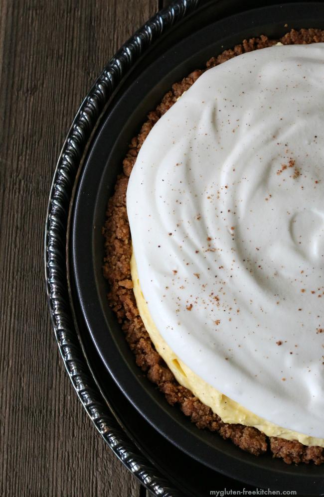Gluten Free Eggnog Pie