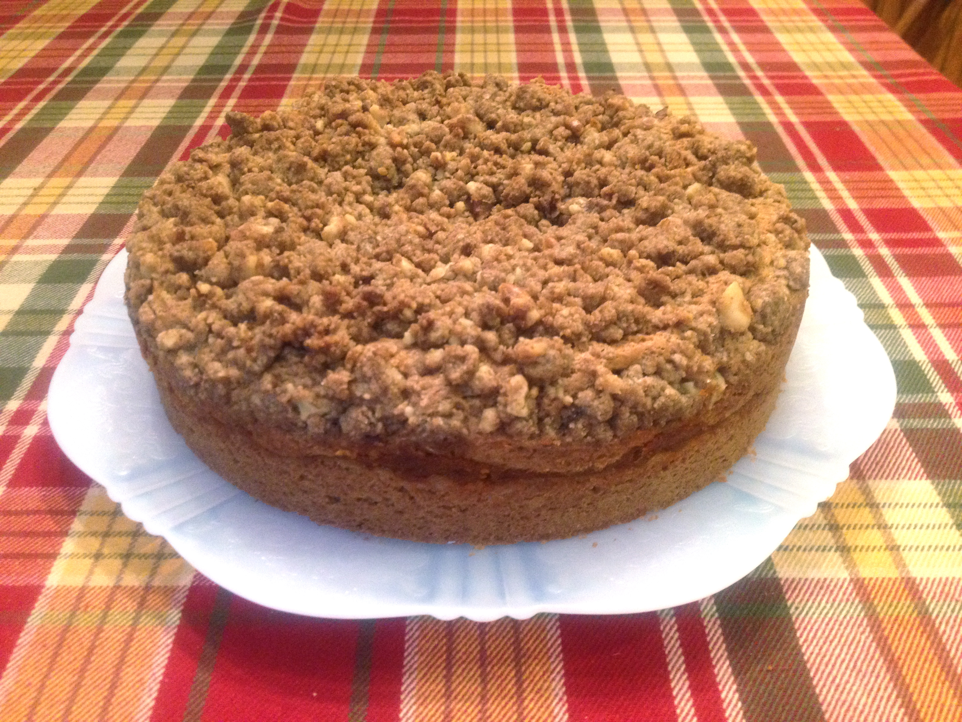 Gluten Free Coffee Cake With Pumpkin Filling And Streusel