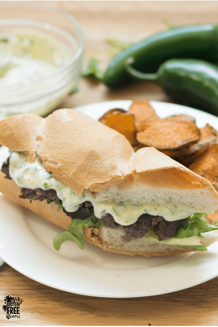 Skirt Steak Sandwich with Cilantro Jalapeno AIoli