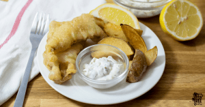 gluten free fish and chips with a gluten free tempura batter