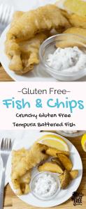 gluten free fish and chips with gluten free tempura batter