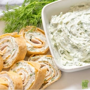 Gluten Free Turkey and Dill Pinwheel Appetizers