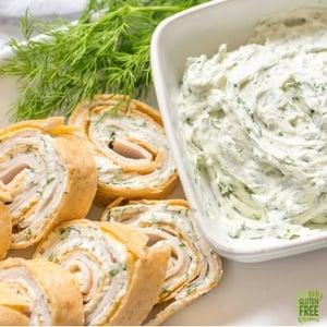 Gluten Free Turkey and Dill Pinwheel Appetizers