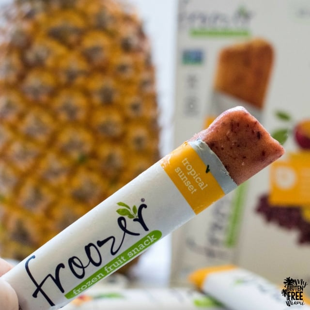 Tropical fruit frozen treat