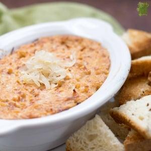 Cheesy Gluten Free Reuben Dip