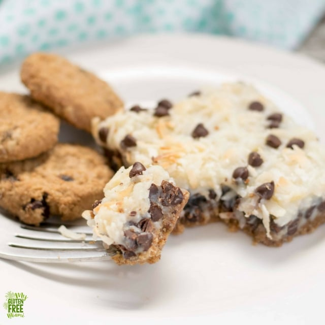 Bite of Oatmeal Cookie Gluten Free Magic Bar