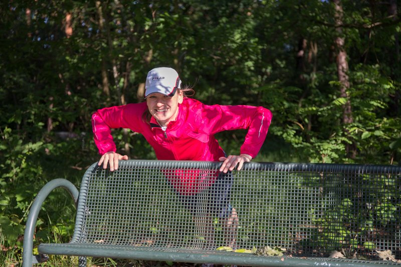 Lauftraining mit Athletikübungen im Stadtpark