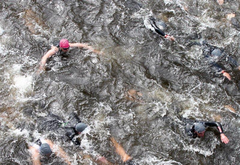 Brustschwimmen beim Triathlon