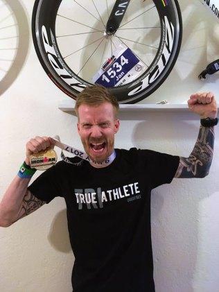 Jan nach dem Ironman Triathlon, Foto: privat