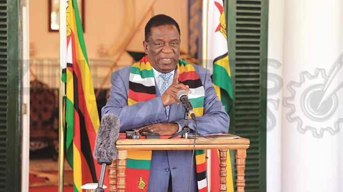 President Mnangagwa Preaches End of Sanctions, Human Rights Abuse, COVID-19 Pandemic and World Insecurity