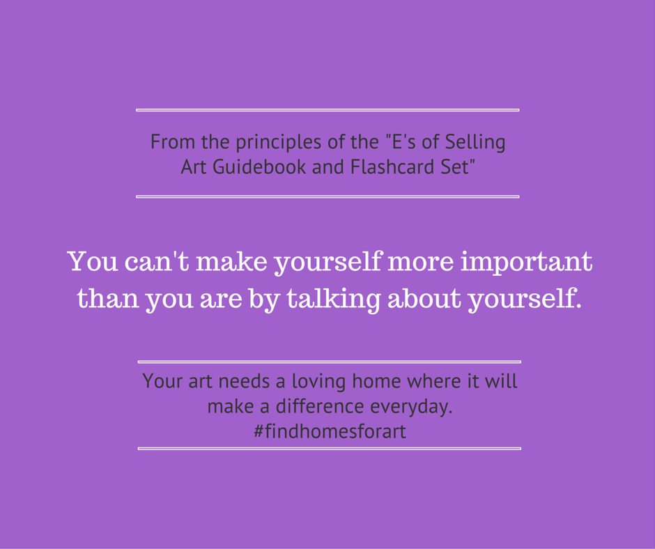 You can't make yourself more important.