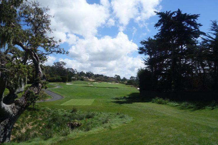 4th, 298m par 4 at Pebble Beach golf links