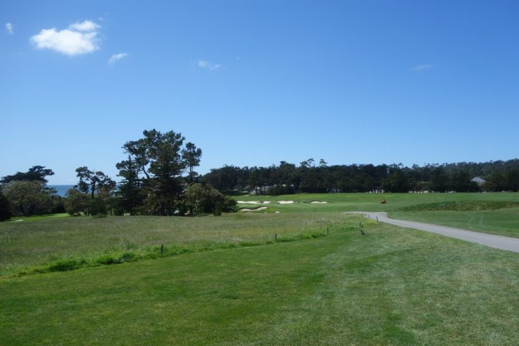 3rd hole - Par 4, 356m at Pebble Beach golf links