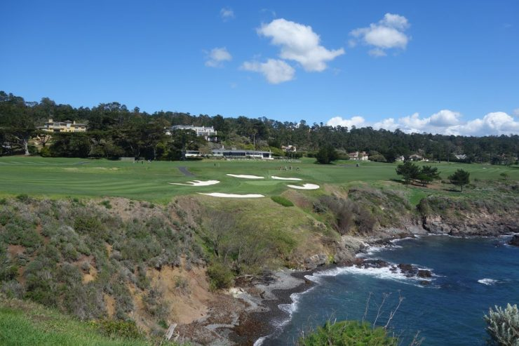 approach to 6th at Pebble Beach golf links