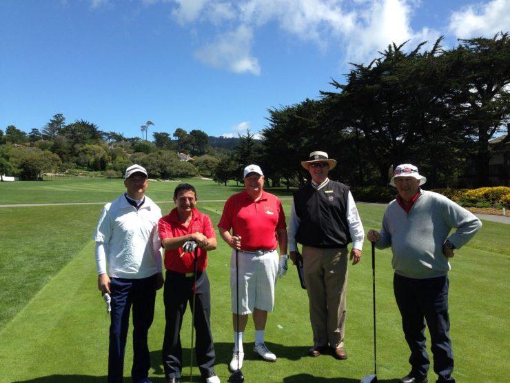golf group at Pebble Beach golf links