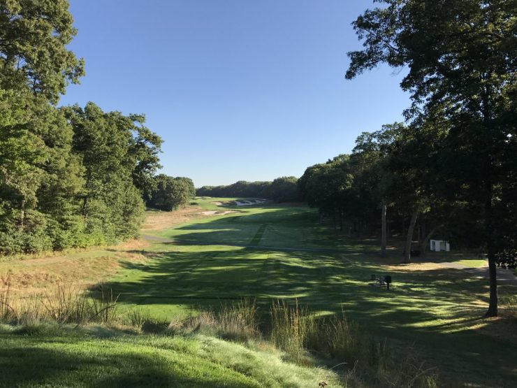 Par 5, 4th hole Bethpage black