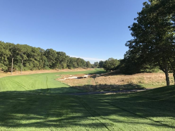 Par 4, 5th hole at Bethpage black