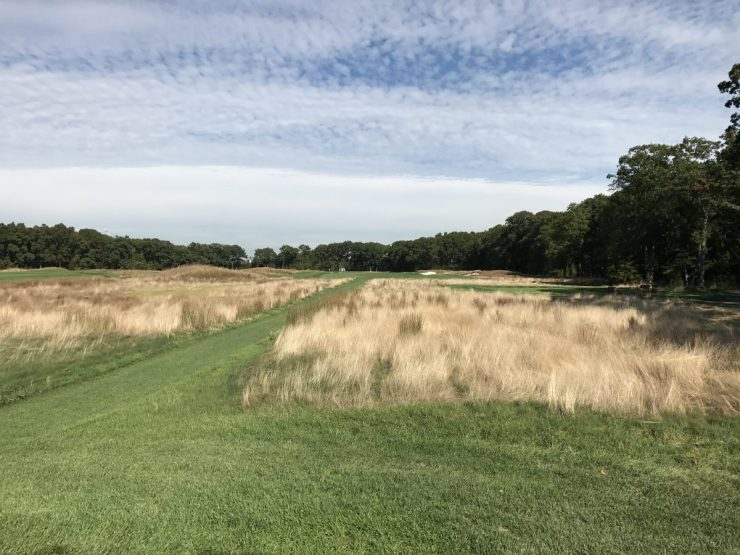 10th tee shot at Bethpage black