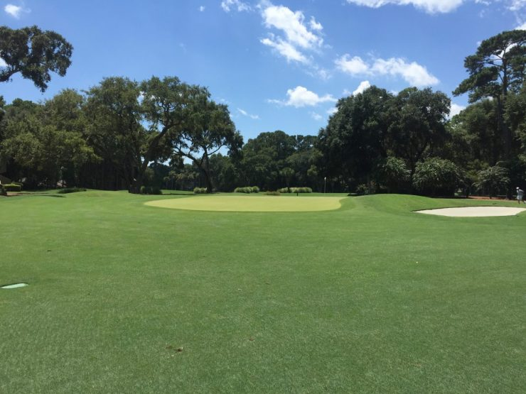 2nd green at Harbour Town Links