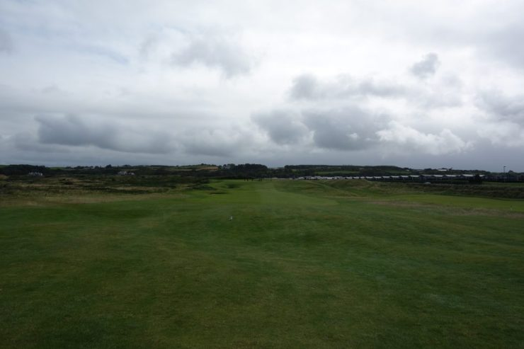 1st hole at Royal Portrush Dunluce links