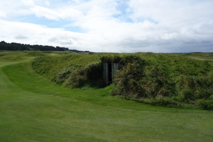 shelter at Royal Portrush Dunluce links
