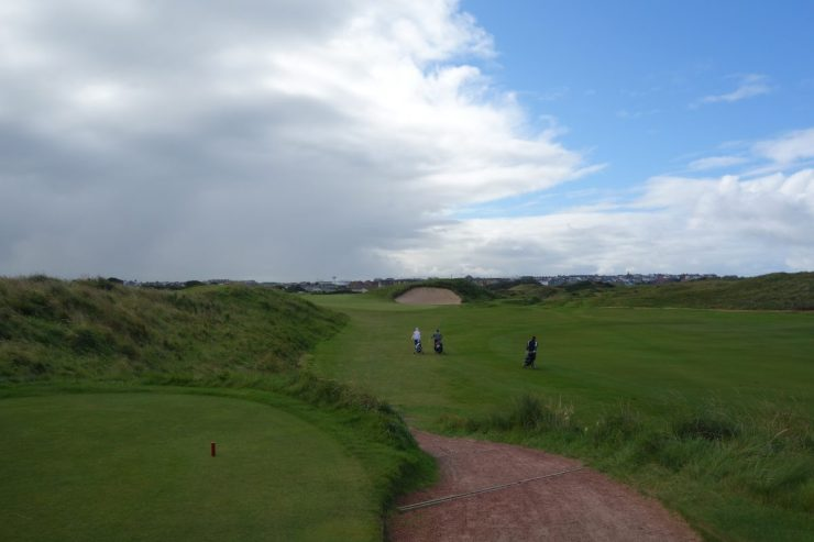 big bunker on 17th at Royal Portrush Dunluce links