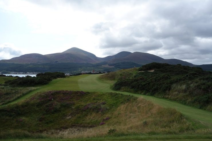 9th hole tee off at Royal County Down