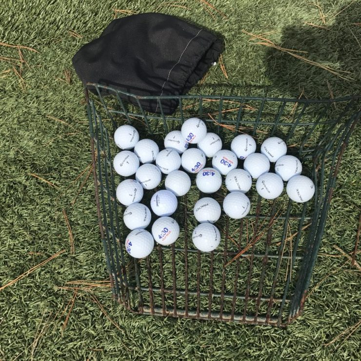 Great little feature on the driving range balls