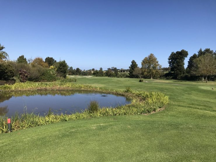 first hole at Fancourt Montagu