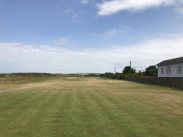 Hole 1 at prestwick golf course scotland