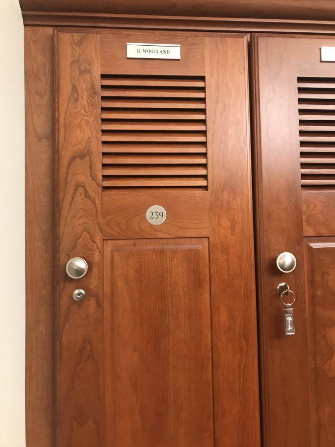 Gary Woodland locker Pine Tree