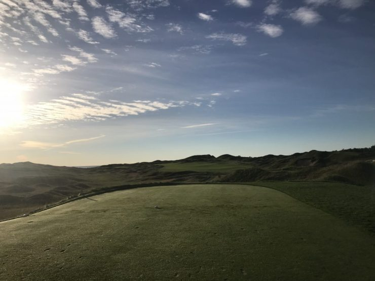 1st hole Whistling straits