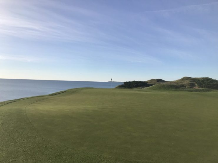 nice view at hole 2 Whistling straits