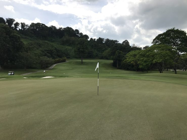 view from green on hole 3