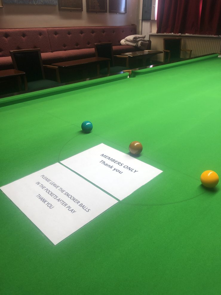 Royal Birkdale Golf Club snooker table
