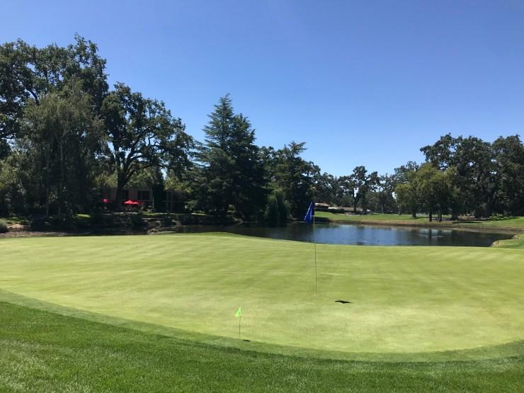 11th green at Silverado Country Club