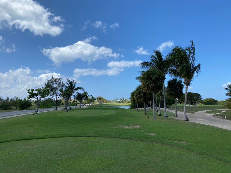 Hole 2 at North Sound golf club