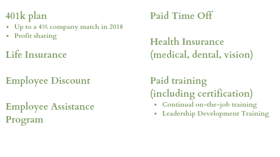 Competitive Pay and Benefits Green