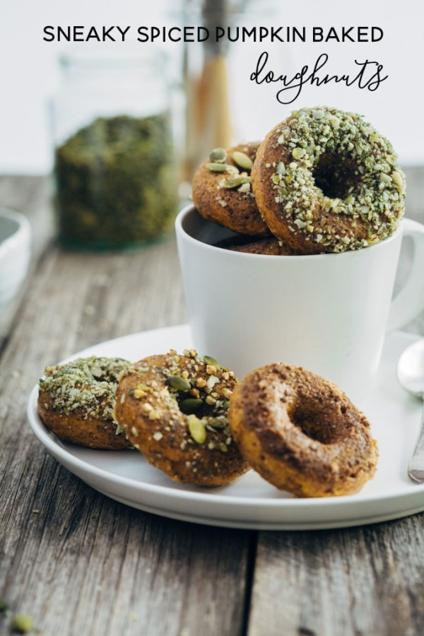 sneaky pumpkin spice baked doughnuts 1