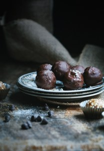 raw caramel fudge truffles 6